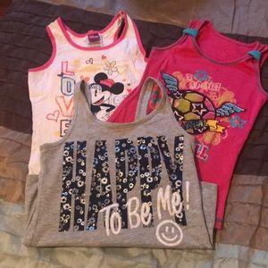 Disney Shirts & Tops - 3 Tank Tops